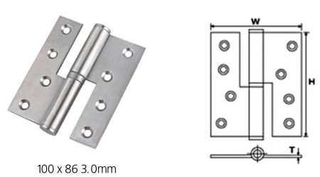 Stainless Steel Ball Bearing Lift-Off Hinges - SS Lift-Off Hinges