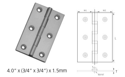 Stainless Steel Light Butt Cut Hinges Stainless Steel Hinges SS ...