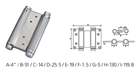 Merveilleux Stainless Steel Spring Hinges